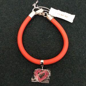 Coach heart charm bracelet